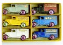 Six Dinky Toy Cars in a Meccano box