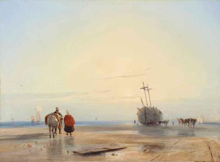 Coastal Landscape By Richard Parkes Bonington Tops