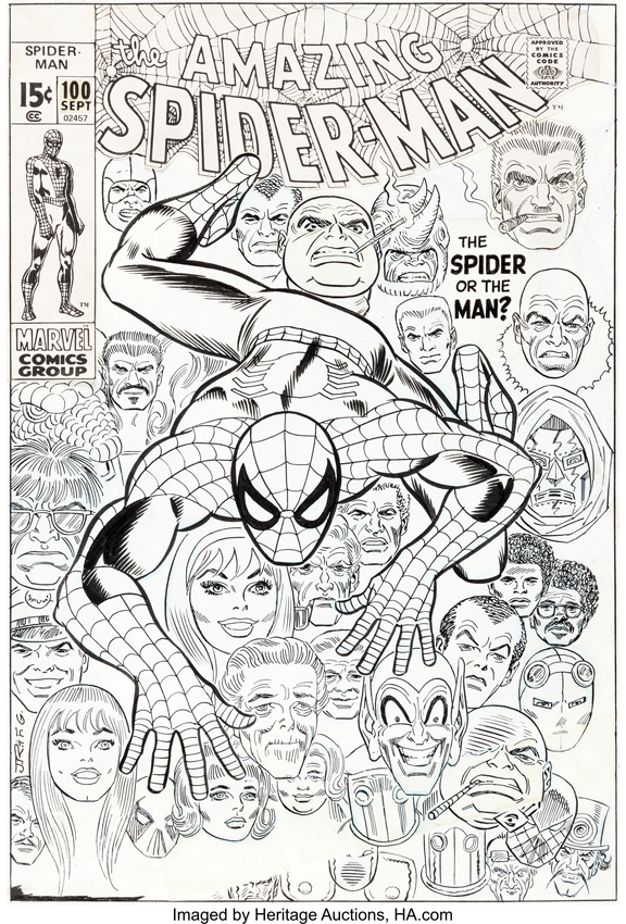 Comic Book Cover Art For Sale : Comics amazing spider man cover has sold for a