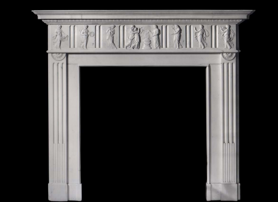 marble chimneypiece auction