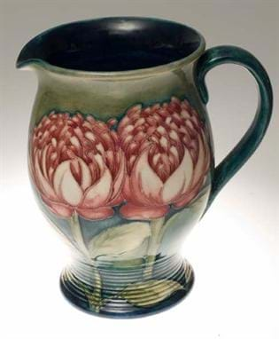 Walter Moorcroft jug in Waratah pattern