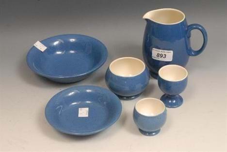 Moorcroft Powdered Blue breakfast set