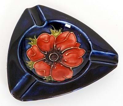 Moorcroft Anemone pattern ashtray