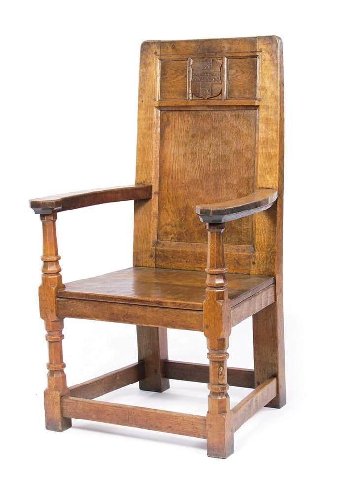 Mouseman Robert Thompson oak bishop's chair