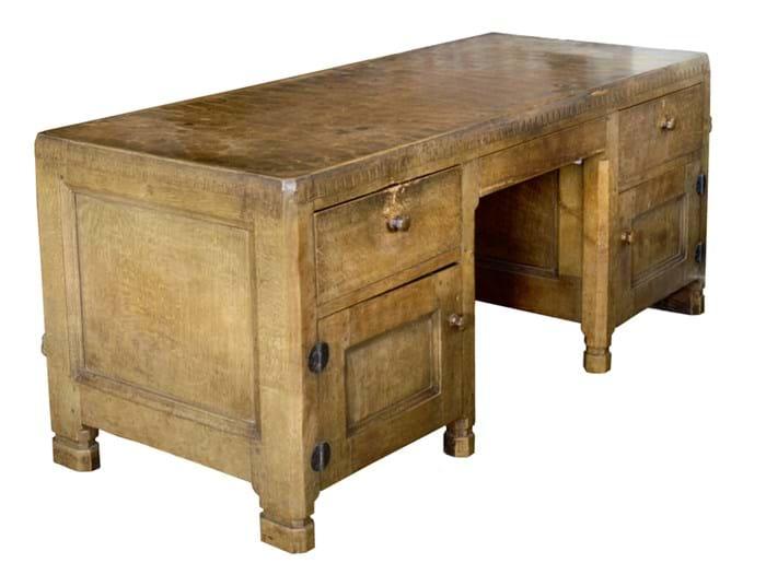 Mouseman pedestal desk