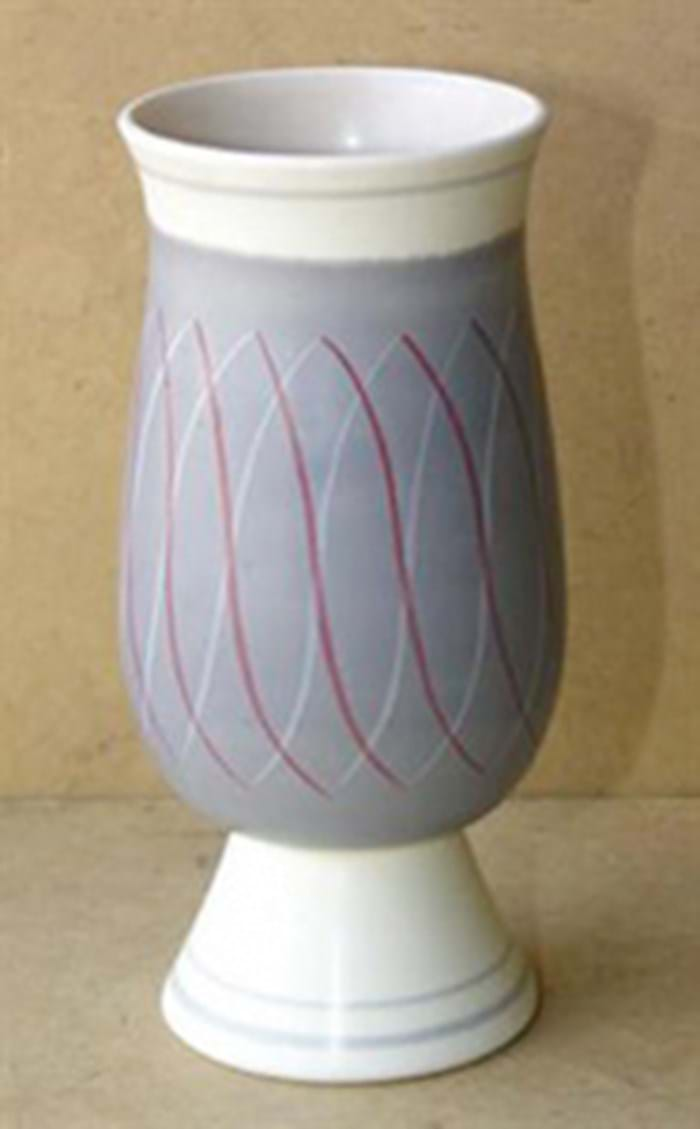 Poole Pottery Freeform vase by Alfred Read