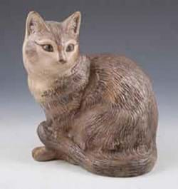 Poole Pottery stoneware model of a cat