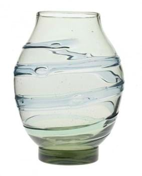 Whitefriars Glass ovoid vase designed by James Hogan