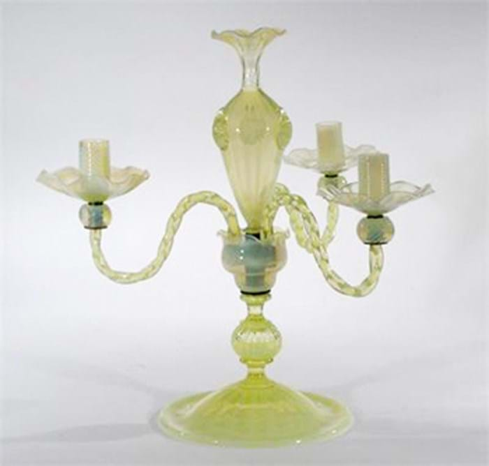 Whitefriars Glass James Powell candlestick
