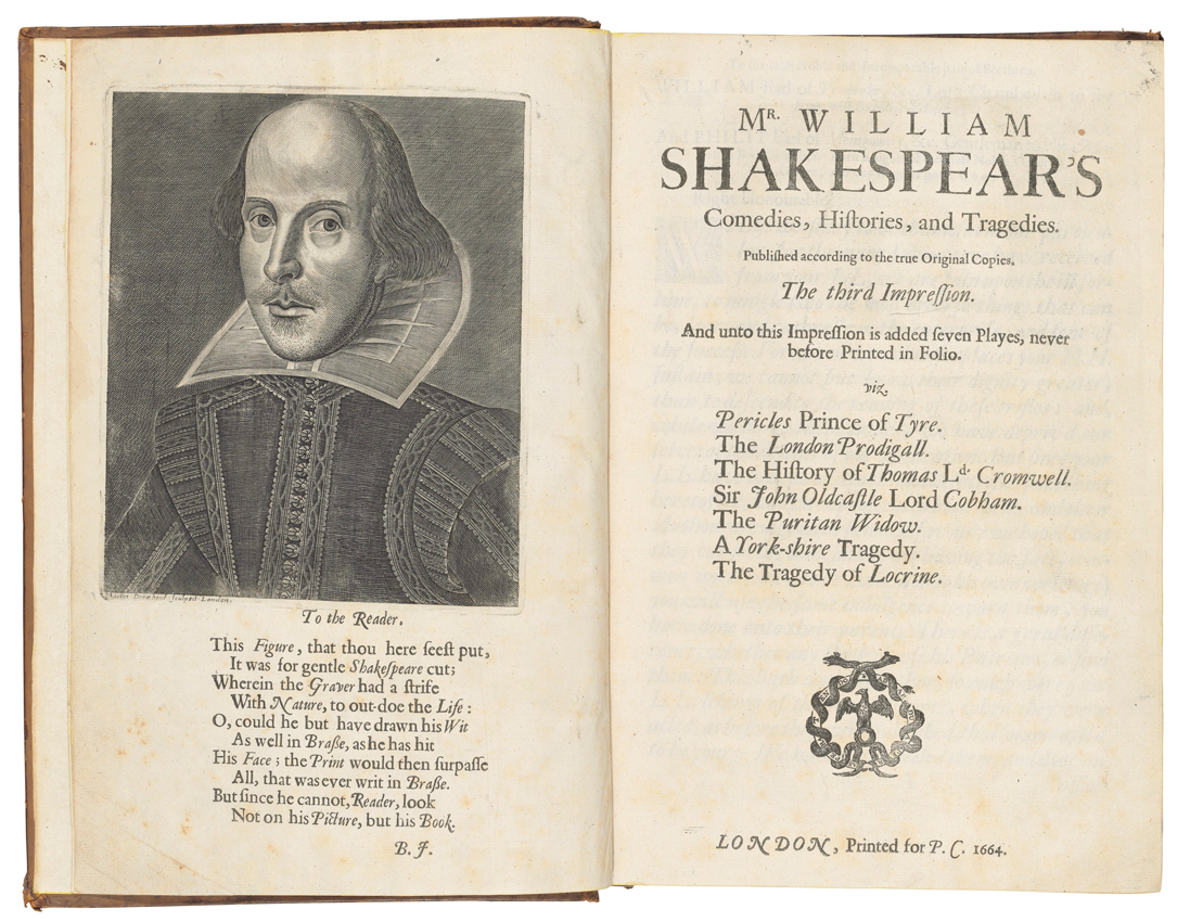 Rediscovered copy of Shakespeare's First Folio heads to ...