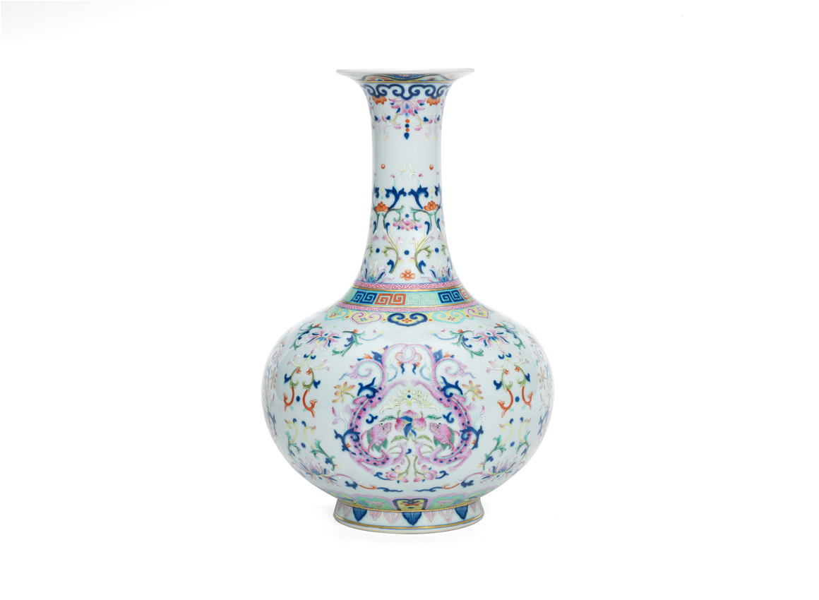 18th century chinese qianlong period vase sells at bonhams 18th century imperial famille rose chilong bottle vase reviewsmspy