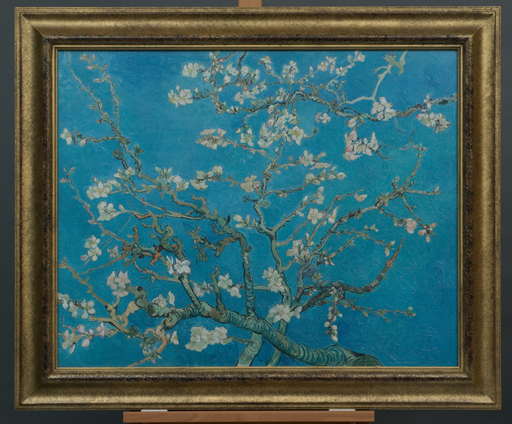 Van Gogh Museum unveils new high-tech print series in London for Almond Blossom Van Gogh Poster  51ane